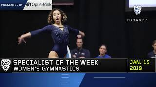 Katelyn Ohashi Pac-12 Specialist of the Week 1-15-19
