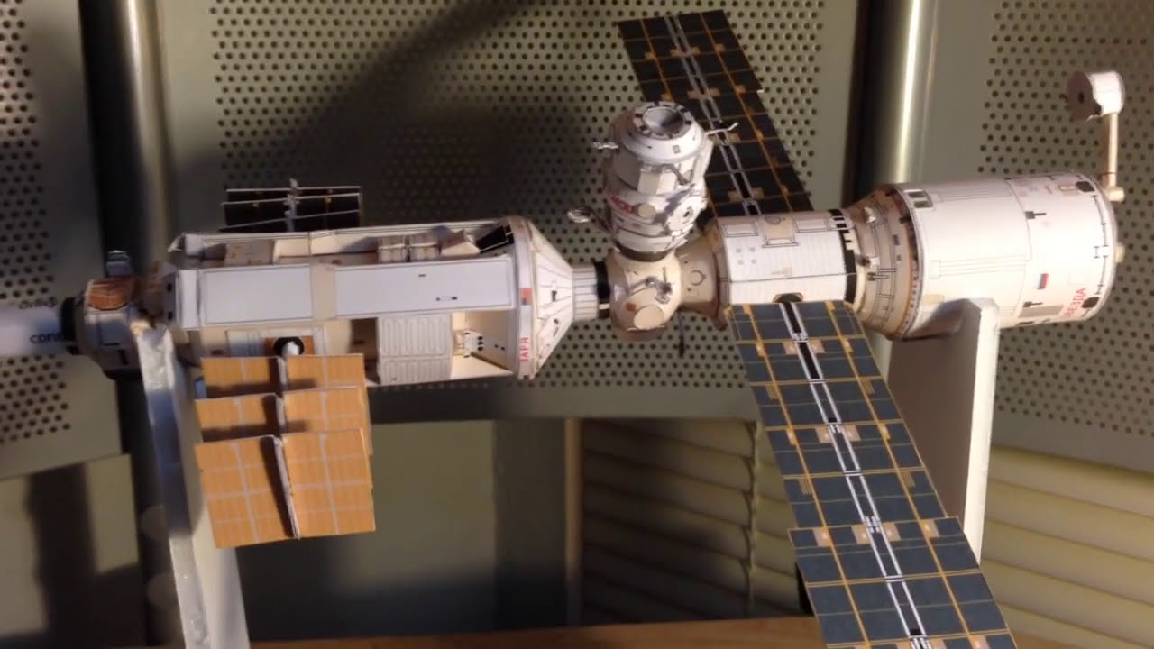 Papercraft ISS Paper model update 1
