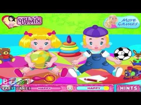 ღ Barbie Twins Babysitter - Baby Games for Kids