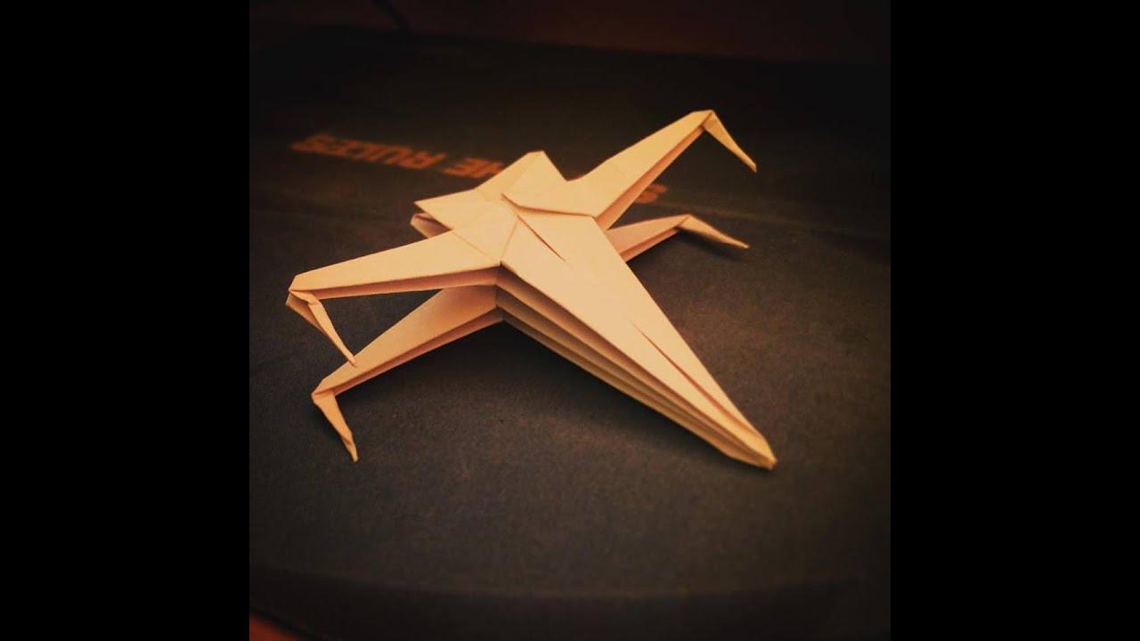 Origami star wars x wing papr hajtogats youtube origami star wars x wing papr hajtogats jeuxipadfo Images