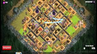 Clash Of Clans Hileli Serverlar - 222 Okçu Kraliçe Saldırısı -