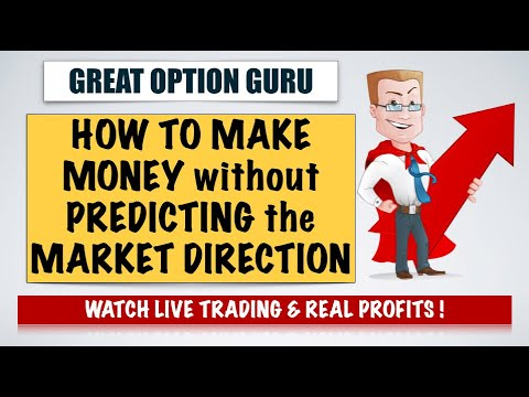 HOW TO MAKE MONEY WITHOUT PREDICTING THE MARKET DIRECTION - Live Trading Video - MUST WATCH