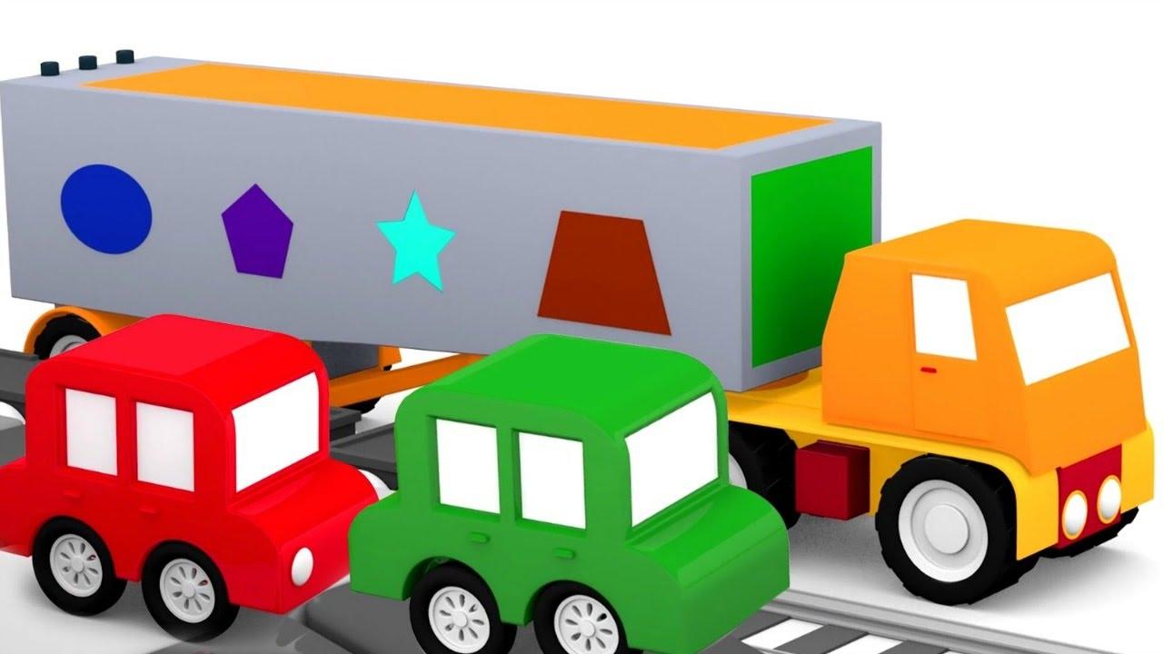 4 carros coloridos o caminh o de formas m gicas desenhos