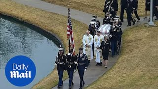 George H.W. Bush arrives at the presidential library for burial