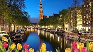 Амстердам.  Прогулка по реке и каналам