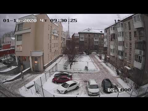 Видео пример работы 8 мп (4к) TVI камеры Hiwatch DS-T800 (День)