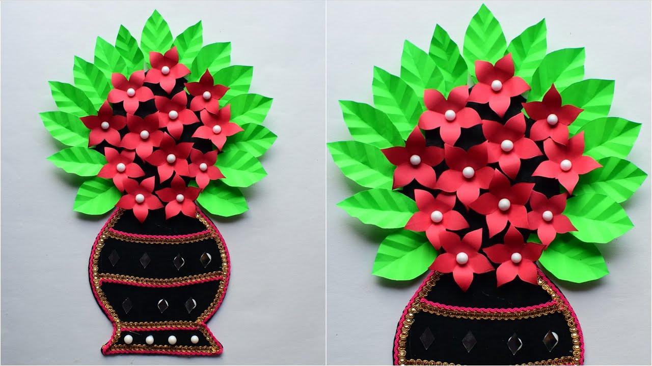 Ganpati Decoration Craft Idea at Home with Paper - गणपती डेकोरेशन