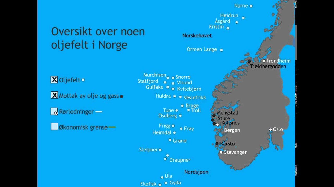 Olje Norge Kart Youtube