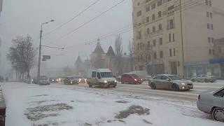 За 1 час Ростов-на-Дону засыпало снегом