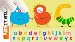 Hungry Alphabet Animated ABC flashcards for preschoolers game demo part 2