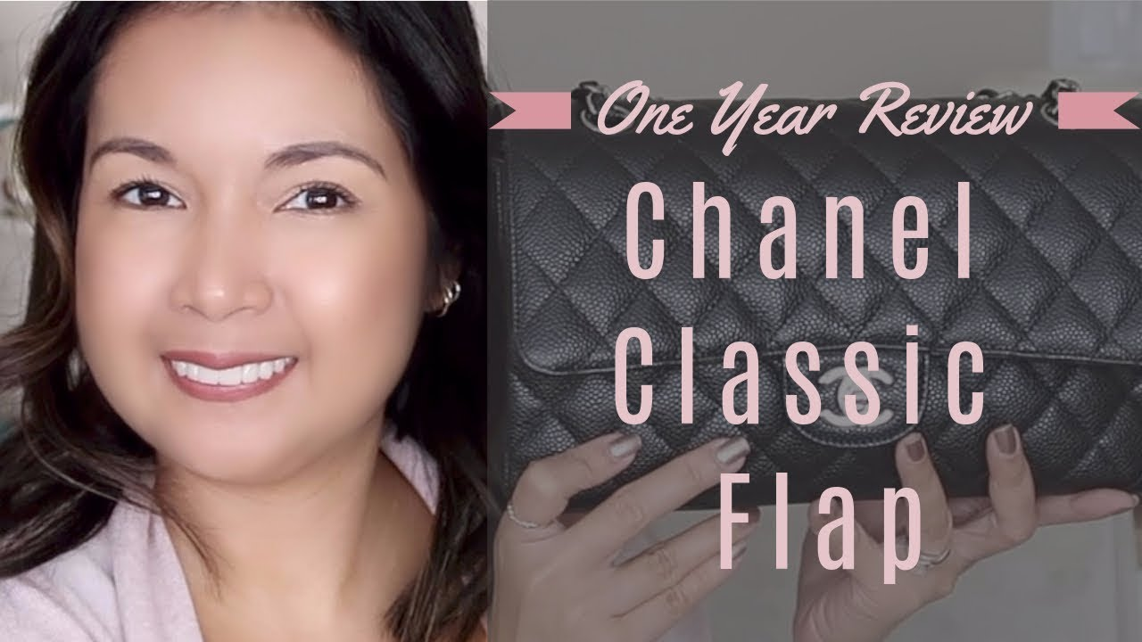 Chanel Classic Flap   One Year Review   Wear and Tear Update   LalaLovesLV 140a2e15c0