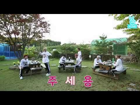 bts run ep 28. aegyo during dinner.