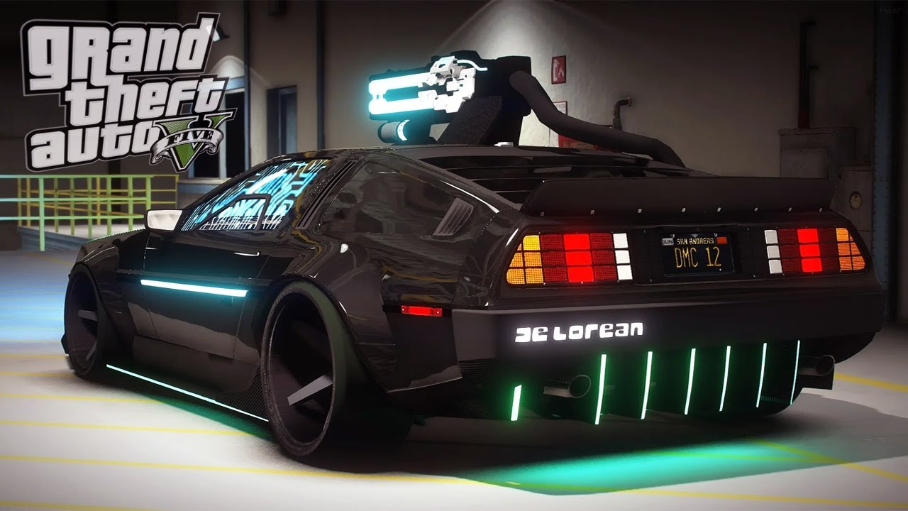 Cyberpunk Delorean DMC 12 / GTA 5 Delorean Mods