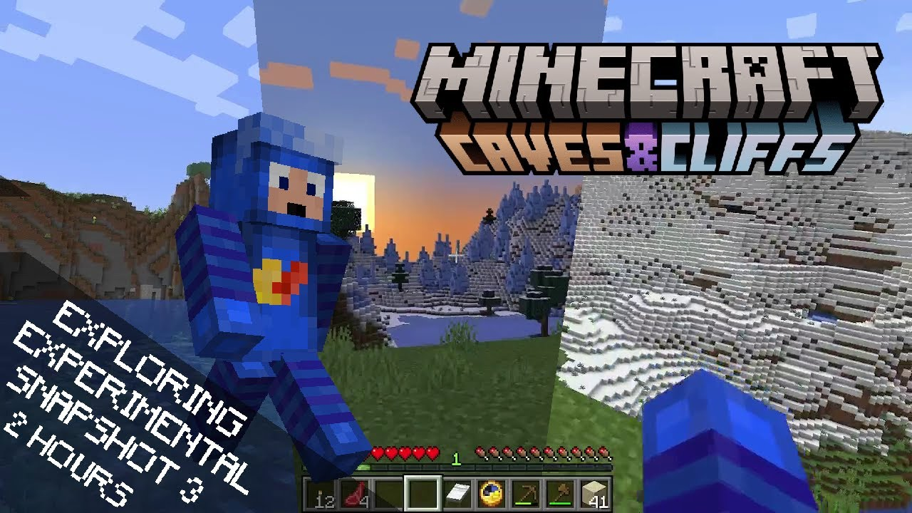 2 Hours Of Exploring the Caves & Cliffs Experimental Snapshot 3 w/ Minecraft Soundtrack