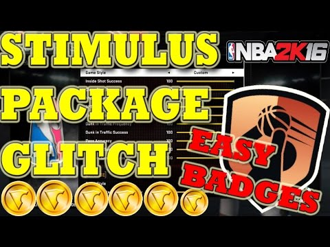 STIMULUS PACKAGE GLITCH - NBA 2K16 100% WORKING - GET BADGES EASY