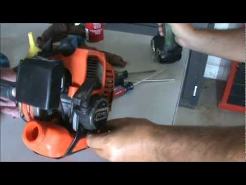 how to change plastic blades on stihl weedeater