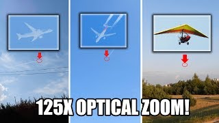 Nikon Coolpix P1000 125x optical zoom test world record - planes, ultralight trike