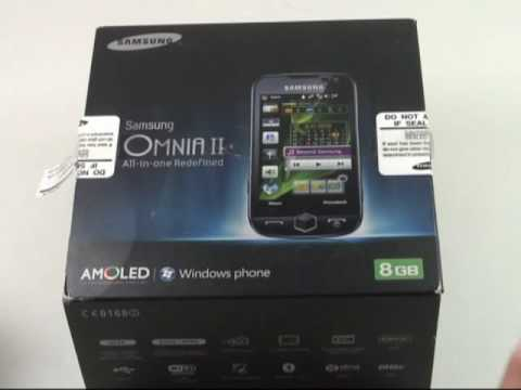 Samsung i8000 Omnia 2 Test Erster Eindruck