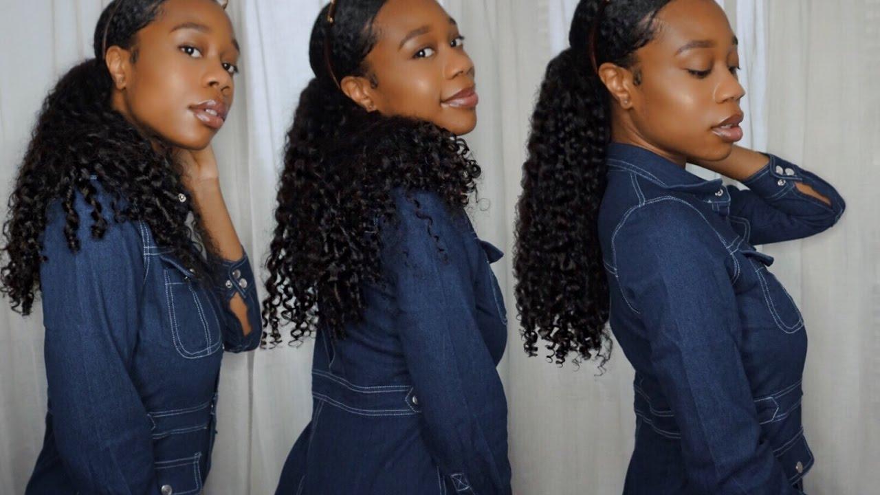How To Sleek Ponytail Using Hair Extensions Julia Hair Youtube