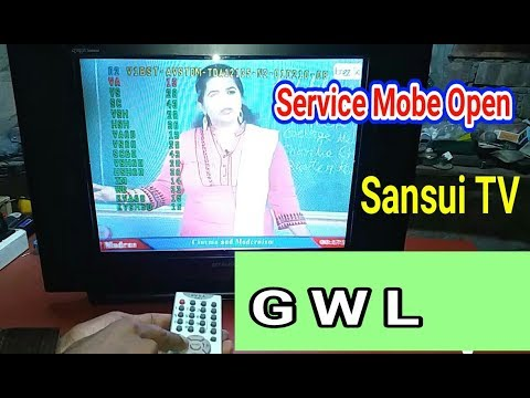 How To Open Service Mode in Crt Sansui TV For All Setting