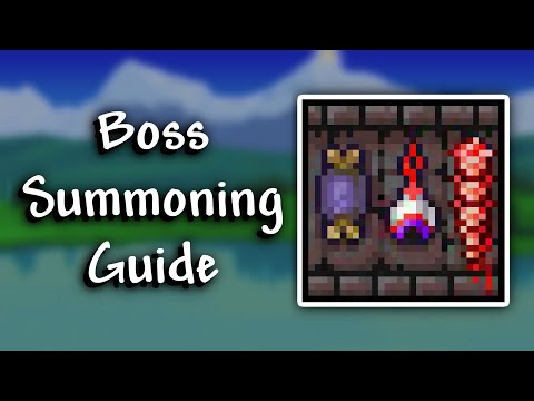 Terraria 1.3 - How To Spawn All Bosses
