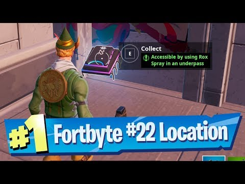 Fortnite Fortbyte #22 Location - Accessible by using Rox Spray in an Underpass