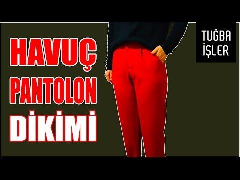 Havuç Pantolon Dikimi - Cepli Ve Duble Paça Bayan Pantolon Yapımı (KENDİN YAP) | Tuğba İşler