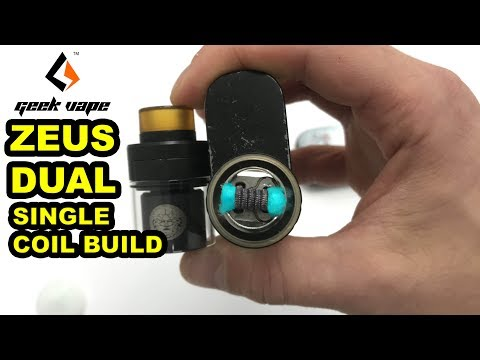 How To Build Single Coil GeekVape Zeus Dual RTA