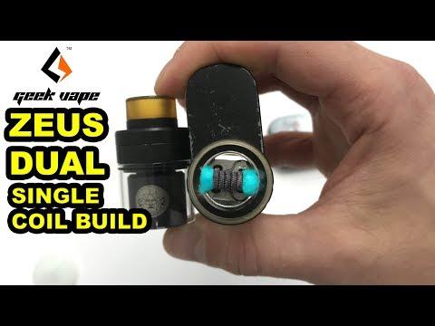 How To Build Single Coil GeekVape Zeus Dual RTA