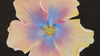 Hibiscus Flower Blossom Acrylic Painting LIVE Tutorial