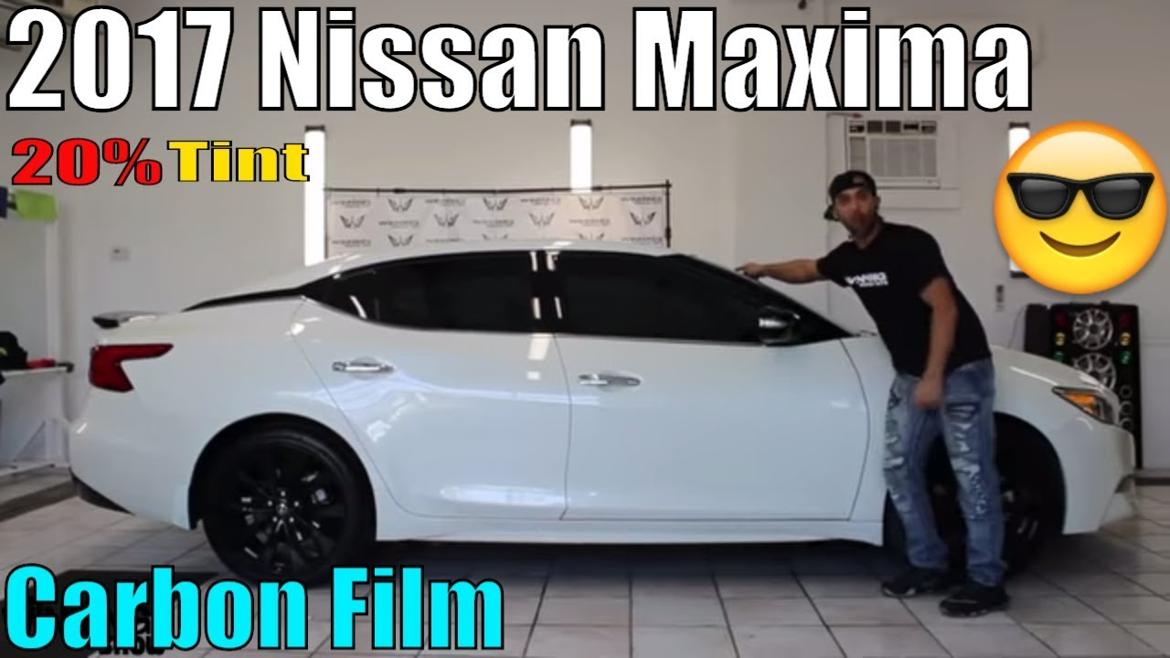 PURE WHITE 2017 NISSAN MAXIMA TINTED! - YouTube