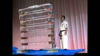 In 2006, Shihan Takehisa Iriki performed breaking of 4 baseball bat...