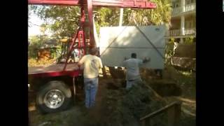 New septic tank installation at my house on Isle of Palms, SC ~ February 2, 2012