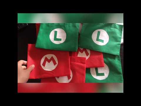 Mario and luigi  goody - favor- goodie bags