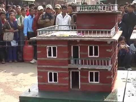 Model of an earthquake proof house