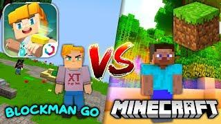 BLOCKMAN GO vs MINECRAFT   MINIGAMES 🕹️