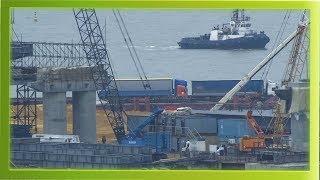 Керченский мост! Самые последние (15.02.2018) новости строительство моста! смотреть до конца