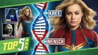 5 Dinge die ihr über Captain Marvel, Kree und Skrull wissen müsst