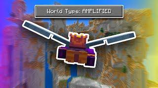 Speedrunning Amplified Minecraft with an Elytra