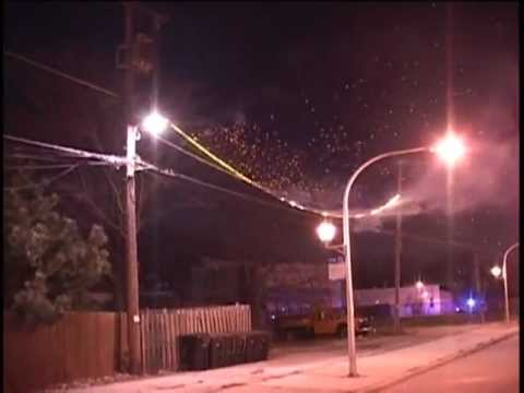 Chicago,IL  Transformer Fire/Power Line Fire Arching & Sparking