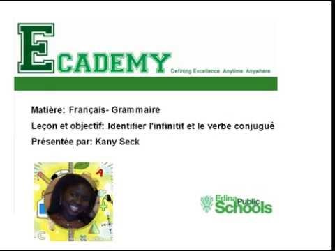 Francais C M 2 Grammaire L Infinitif Et Le Verbe Conjugue Youtube
