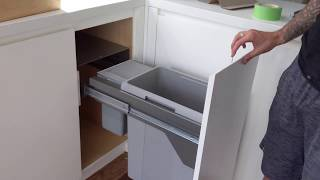 Installing Hailo Soft-Closing Garbage Can