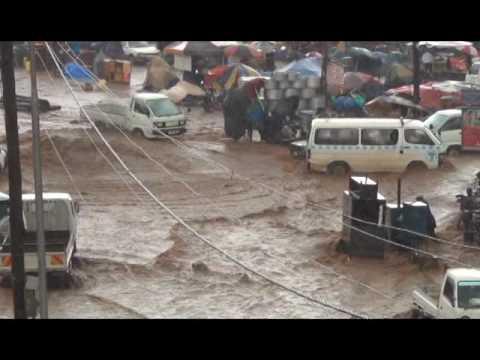 Rain shakes Kampala City