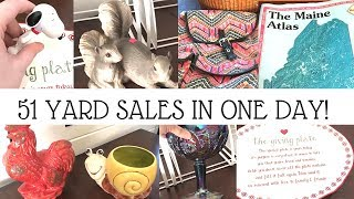 YARD SALE HAUL | 51 Yard Sales In One Day | Reselling