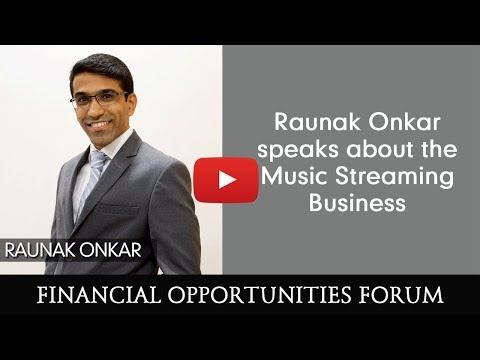 Raunak Onkar speaks about the Music Streaming Business