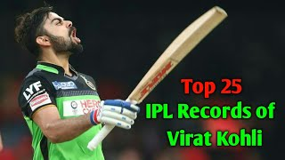 Virat Kohli IPL Records | Top 25 IPL Records of Virat Kohli | IPL | Virat Kohli  | Cric Comment