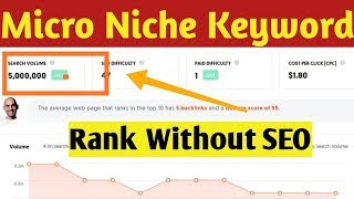 Earn 1000$/month from this Micro Niche Keyword without SEO