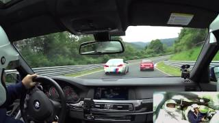 M5 vs M5 Competition Package Taxi Nordschleife