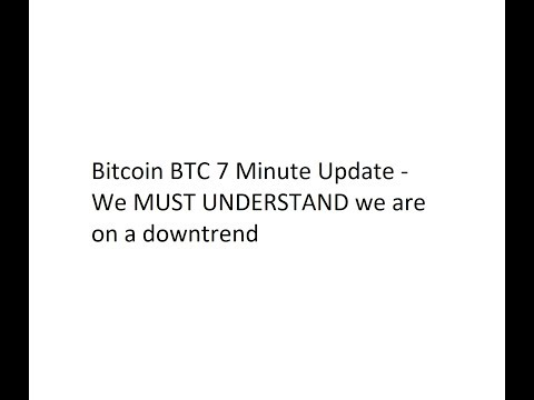Bitcoin BTC 7 Minute Update - We MUST UNDERSTAND we are on a downtrend