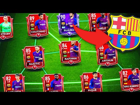 FIFA MOBILE 19 - BUILDING BARCELONA TEAM /BEST TEAM UPGRADE #1